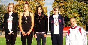 A bajnok lány serdülő magasugró csapat