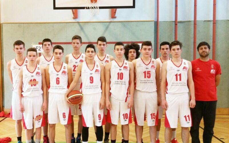 U16-os fiú kosárlabda csapat Bécsben