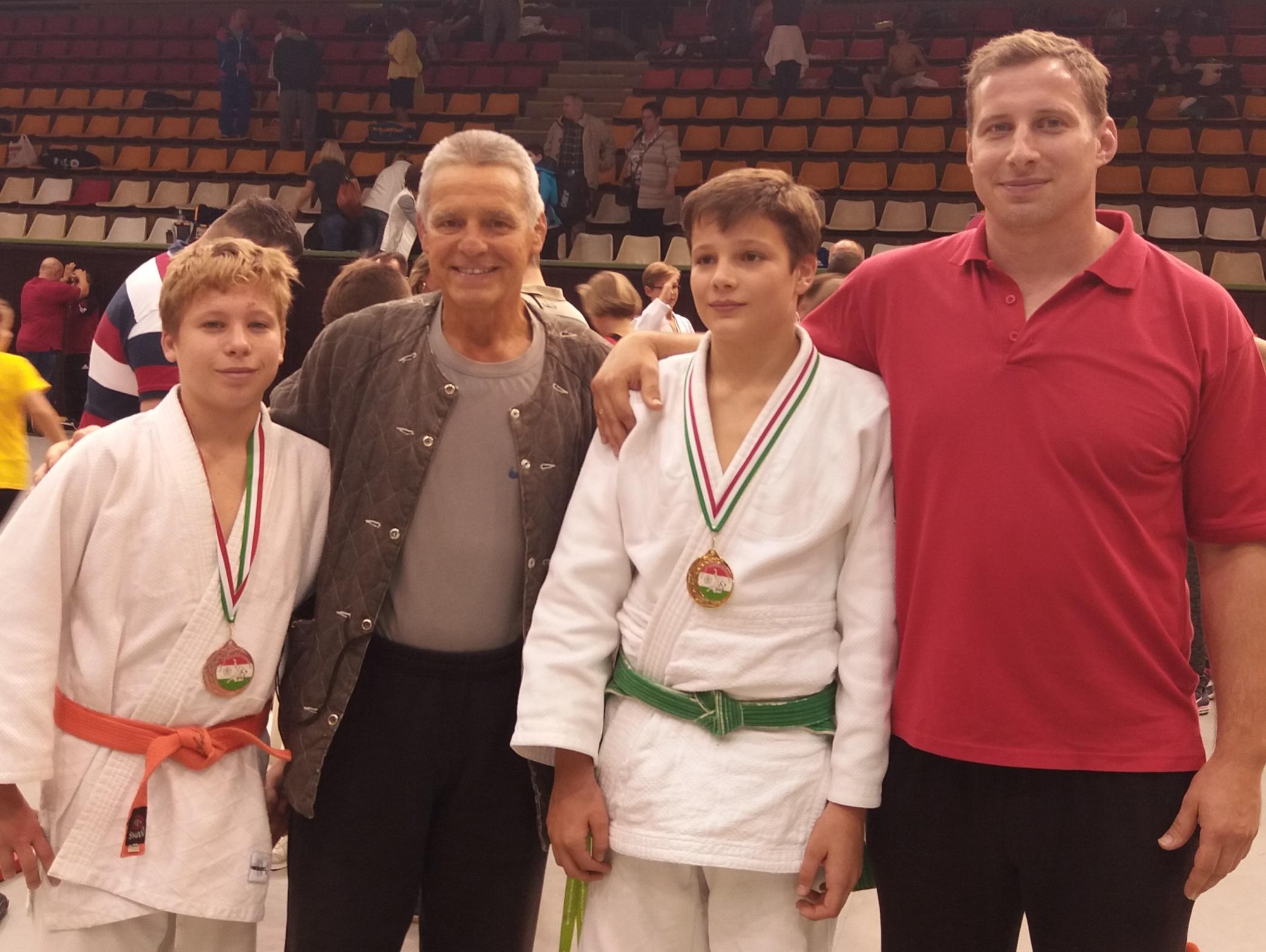 Pusztai Zalán és Major Ádám edzőikkel
