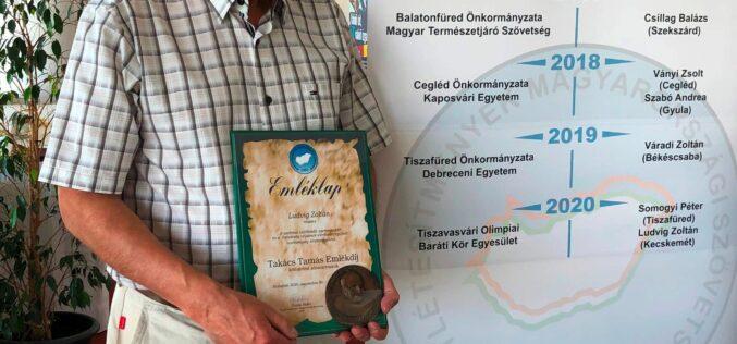 Ludvigh Zoltán átvette a Takács Tamás Emlékdíjat